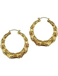Mehrunnisa 18k Gold Plated Big Round Hoop Earrings For Women (JWL1074)