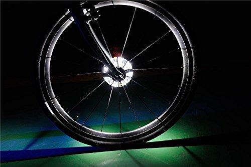 Preisvergleich Produktbild Cyborg LED Bike Rad Licht,  personalisierbar,  bunt Rad LED Beleuchtung – Perfekt für Sicherheit und Fun – einfach zu installieren – Beste Geschenk Ideen für Kinder,  Damen und Herren. Fun Fahrrad Speichen und Felgen Sicherheit Warnung Licht. Colorful Radfahren Reifen zubehör,  Scheinwerfer oder Rücklicht