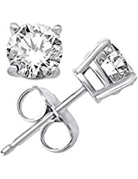 Gandhi Jewellers Sterling Silver Solitaire Earrings. Pure 925 Silver Solitaire Earrings. Stylish Earrings.