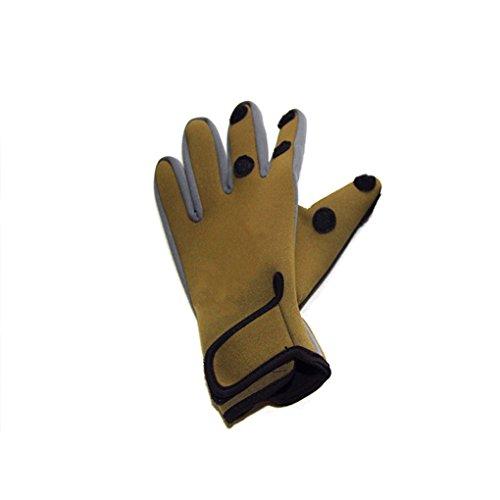 Bobury Angeln Handschuhe Anti-Rutsch-Wärme-Screen-Jagd-Sport im Freien Radfahren Halb Thumb Index Mittelfinger (Freie Jagd Aufkleber)