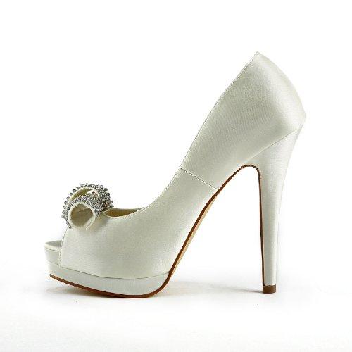 Jia Jia Wedding 40981 Scarpe Sposa Scarpe col tacco donna Beige