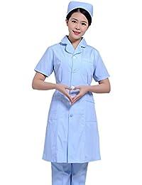 Xuanku Enfermera Enfermera Belleza Ropa De Manga Corta Manga Larga Ropa Vestir Batas Blancas Tatuaje Farmacia