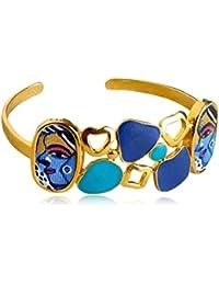 Miranika Gold Plated Cuff for Women (Multi-Colour)(C1D3CSB)