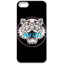 iPhone 5 5s funda [Blanco] Kenzo Tiger Jefe del logotipo de iPhone Tema 5 5s funda SHDA7143