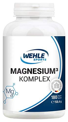 Magnesium Komplex. 375mg elementares Magnesium je Tagesdosis. Magnesiumbisglycinat Magnesiumcitrat Magnesiummalat, hochdosiert, vegan (180 Kapseln) - Power Magnesium