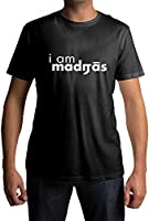 Fully Filmy I am Madras Round Neck Cotton Unisex T-Shirt (TEE-110-BLK-XLG)