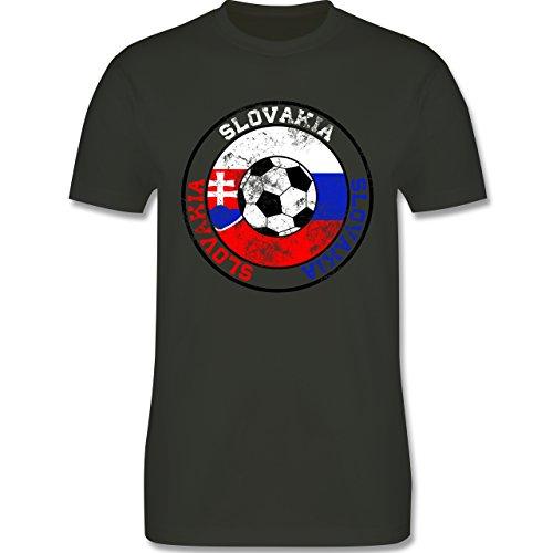 EM 2016 - Frankreich - Slovakia Kreis & Fußball Vintage - Herren Premium T-Shirt Army Grün