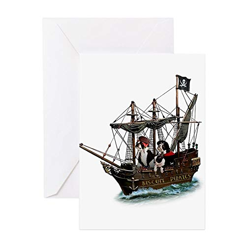 CafePress Grußkarte, Motiv Biscuit Pirates Greeting Card