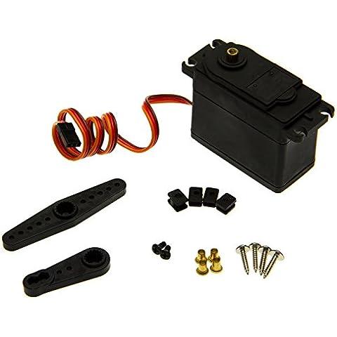 Adapter-Universe ® Metallo Gear Servo 30kg Sterzo cambio mtds019m F RC Modelli Auto Heli (Super Forte Horn)