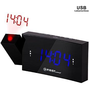 Radio réveil avec projecteur et port USB très grands