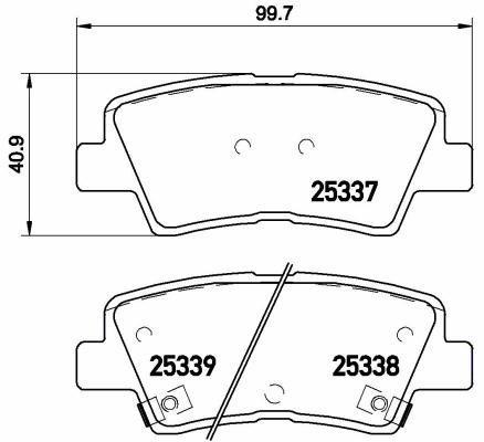 Preisvergleich Produktbild Bremsbelagsatz,  Scheibenbremse / Brembo (P 30 067) / Bremsbelagsatz,  Bremsanlage