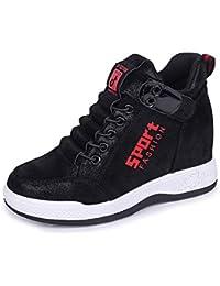 GLSHI Zapatillas de Cuero de Moda para Mujer 2018 Otoño E Invierno  Zapatillas Ligeras Zapatos de Viaje Al Aire… a7e78141e85