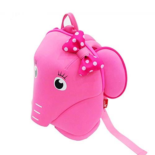 Mochila de Neopreno para niños pequeños con Elefante Rosa para jardín de Infantes y Caminar