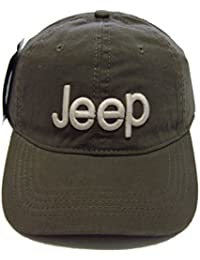 fdb166c945e Jeep Unisex Solid Color Adjustable Cutton Baseball Cap Outdoor Sunhat With  Front Logo