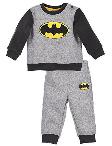 Jogging Bebé Batman azul y gris de 6a 23meses gris gris Talla:6 meses