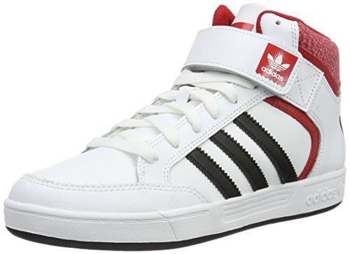 adidas Varial Mid, Baskets Hautes Mixte Adulte Blanc (Ftwr White/Core Black/Scarlet)
