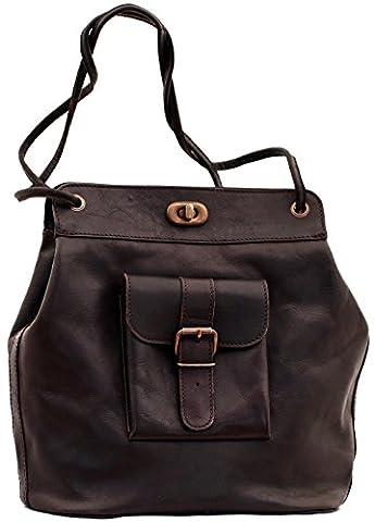 LE 1950 sac vintage en cuir inspiré des années 50 multi-positions couleur Indus PAUL MARIUS