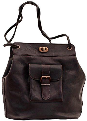 LE 1950 Tiefdunkelbraun damentasche handtasche inspiriert von den 50er Jahren Ledertasche PAUL MARIUS