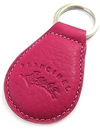 Francinel [L8700] - Porte-clés cuir 'Troubadour' rose orange