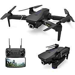 EACHINE E520S Drone avec Camera 4k HD GPS 5G-WiFi Pliable FPV Quadcopter 1200mAh Batterie Inclus