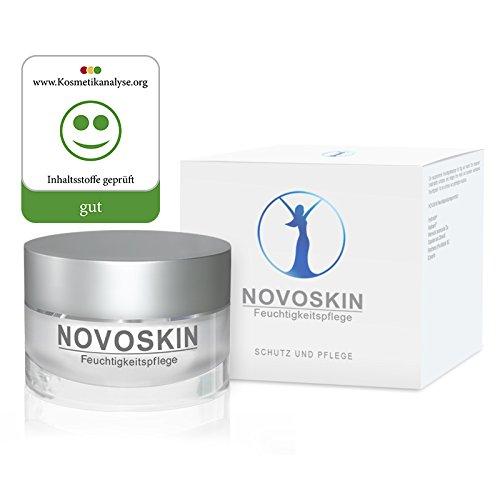 Feuchtigkeitscreme von NOVOSKIN - NOVOSKIN Feuchtigkeitspflege - Creme mit Hydractin®, Radicare®, Squalan aus Olivenöl, wertvollen botanischen Ölen, Panthenol (Provitamin B5) und Glycerin - 50ml -