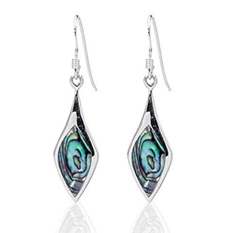 DTPsilver -Damen - Ohrringe 925 Sterling Silber und Abalone Paua Muschel