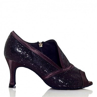 Scarpe da ballo - Personalizzabile - Da donna - Balli latino-americani / Jazz / Salsa / Samba / Scarpe da swing - Tacco su misura -Raso / Purple