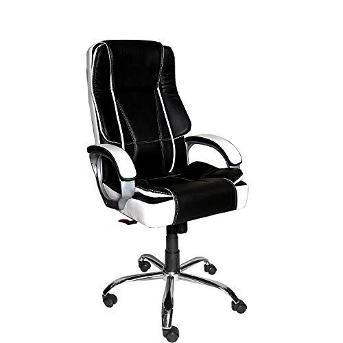 CELLBELL C52 Back Office High-Back Office Chair [Black & White]
