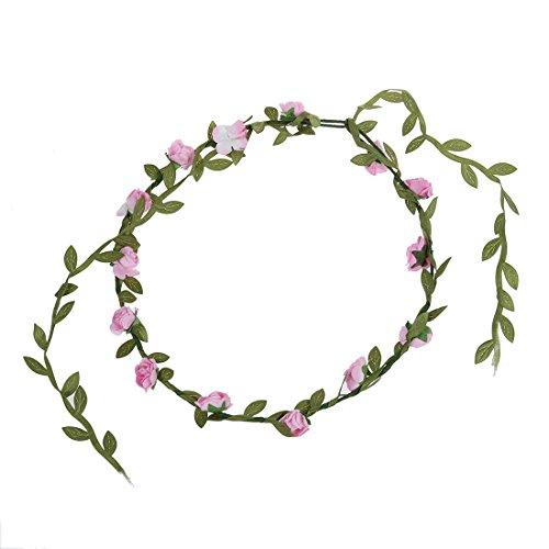 TOOGOO(R) Bohemien Dames Floral Fleur Festival Mariage Guirlande Front Cheveux Bandeau - Rose