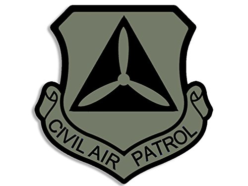 American Vinyl Gedämpften Farben Civil Air Patrol Schild geprägt Aufkleber