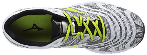 Mizuno  Wave Sayonara, Chaussures de course pour homme Multicolore - White/Lime Punch/Black