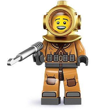 LEGO 8833 Minifiguren Sammelfigur/Sammlerstücke Serie 8 #6: Taucher /Diver (Lego Serie Minifiguren 8)