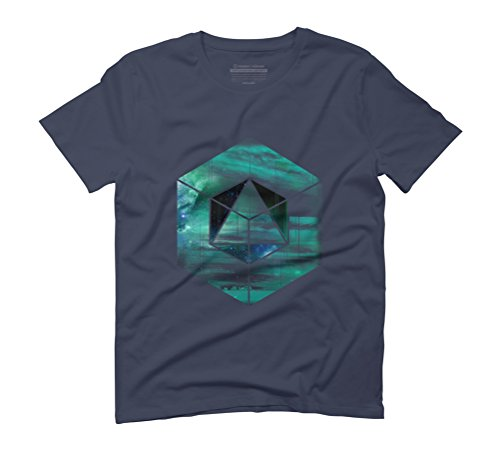The Geometry of space Men's Graphic T-Shirt - Design By Humans Navy