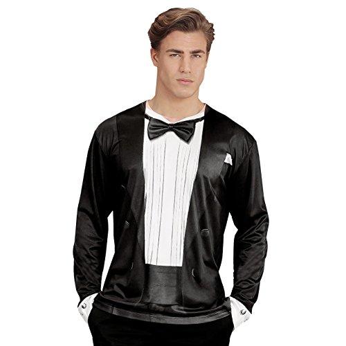 Shirt Tuxedo Kostüm Erwachsene Für T - Widmann 98701 T-shirt Smoking, Medium