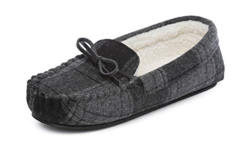 Boys Mens Faux Suede Fur Lined Moccasin Slippers Shoes Size UK Child 10 11 12 13 1 2 3 4 5 6 Infant Junior