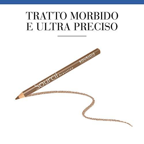 Bourjois Sourcil Précision Matita per Sopracciglia con Pettinino Incorporato, per Sopracciglia Ultradefinite, 06 Blond Clair
