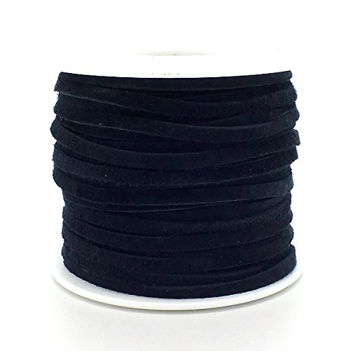 real-leather-suede-cord-3mm-flat-rustic-string-black-2m