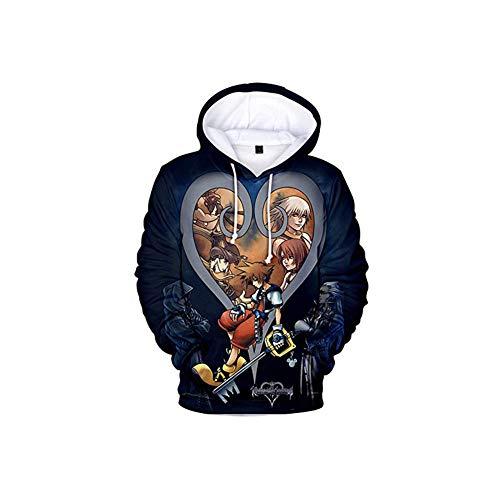 WMWZ Königreich Herzen gedruckt Kapuzenpulli Jacke Pullover Cosplay Kostüm,XL