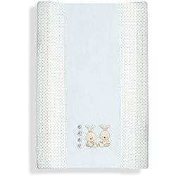 Interbaby - Cambiador con tejido de toalla para bebés, diseño de conejos, color beis