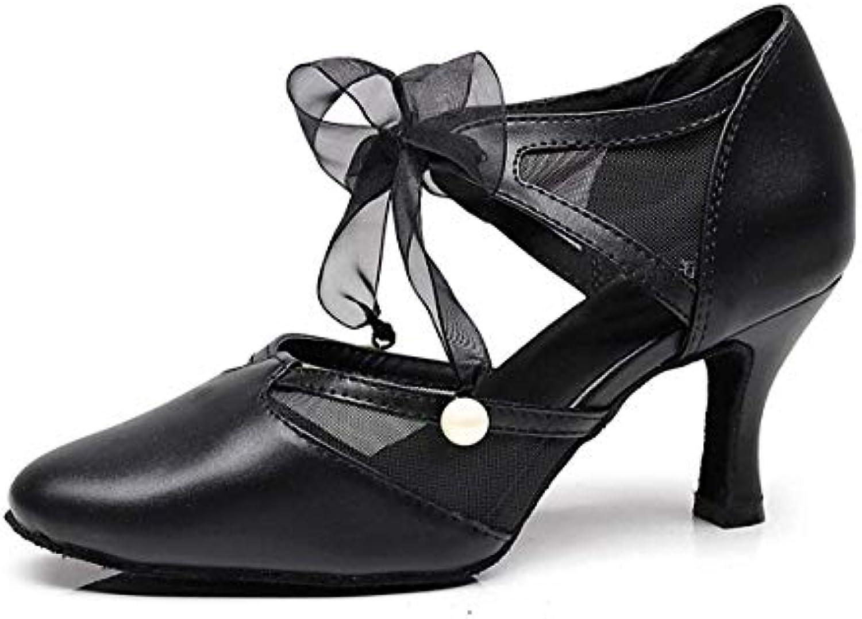 TJ7131 Ladies Girls Ribbon Ribbon Ribbon nero Toe nero Ballroom Dancing Pumps UK 5 (Coloreee   -, Dimensione   -) | Funzione speciale  | Maschio/Ragazze Scarpa  29919a