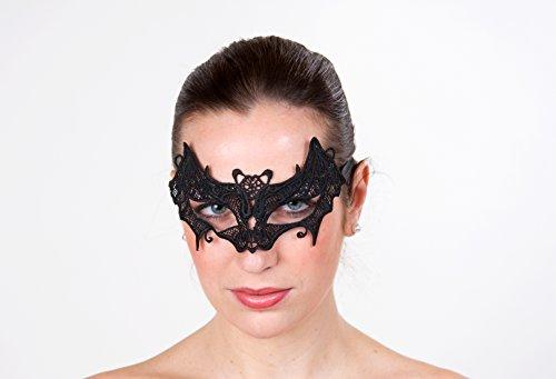 Augenmaske Fledermaus aus schwarzer (Augenmaske Fledermaus)