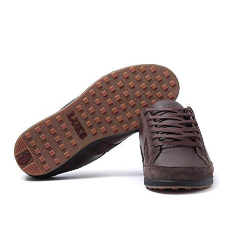 Herren Luke weiß Schokobraunes Sneaker weiß 1977 Leder 43 pqOwZ