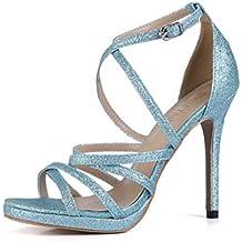 de63bb0be4 CHMILE Chau-Zapatos para Mujer-Sandalias de Tacon Alto de Aguja-Elegantes-