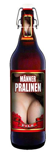Männer Pralinen - 1 Liter Flasche mit Bügelverschluss