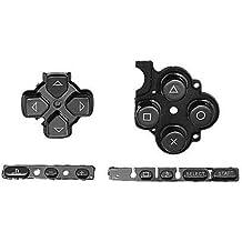 OSTENT Botones Reemplazo de reparación del juego de almohadilla de teclado Compatible para la consola delgada Sony PSP 3000 - Color negro
