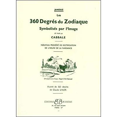 Les 360 degrés du zodiaque. Symbolisés par l'image et par la Cabale