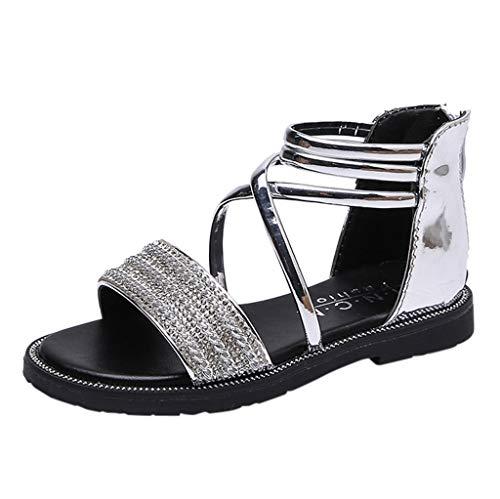 Ears Kleinkind Flache Fußschuhe scherzt Strand Sandalen Baby Sandalen Mädchen Römische Schuhe Vintage Leder Sneakers Solid Sicherheitsschuhe Kristall einzelne beiläufige Schuh Sandalen