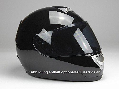 Integralhelm Motorradhelm Helm BNO F500 erschiedene Farben (XS,S,M,L,XL,XXL) (XXL, Schwarz glänzend) - 7