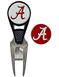 Alabama Crimson Tide CVX Golf Ball Mark Repair Tool and 2 Ball Markers by Team Effort