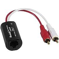 MuxLab 500027Stereo Audio Balun, spina RCA su CAT5/6Nero